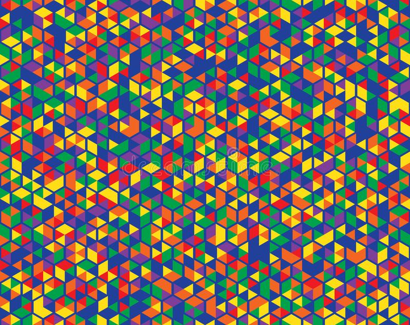 Abstraktes nahtloses Muster des Farbhintergrundes stock abbildung