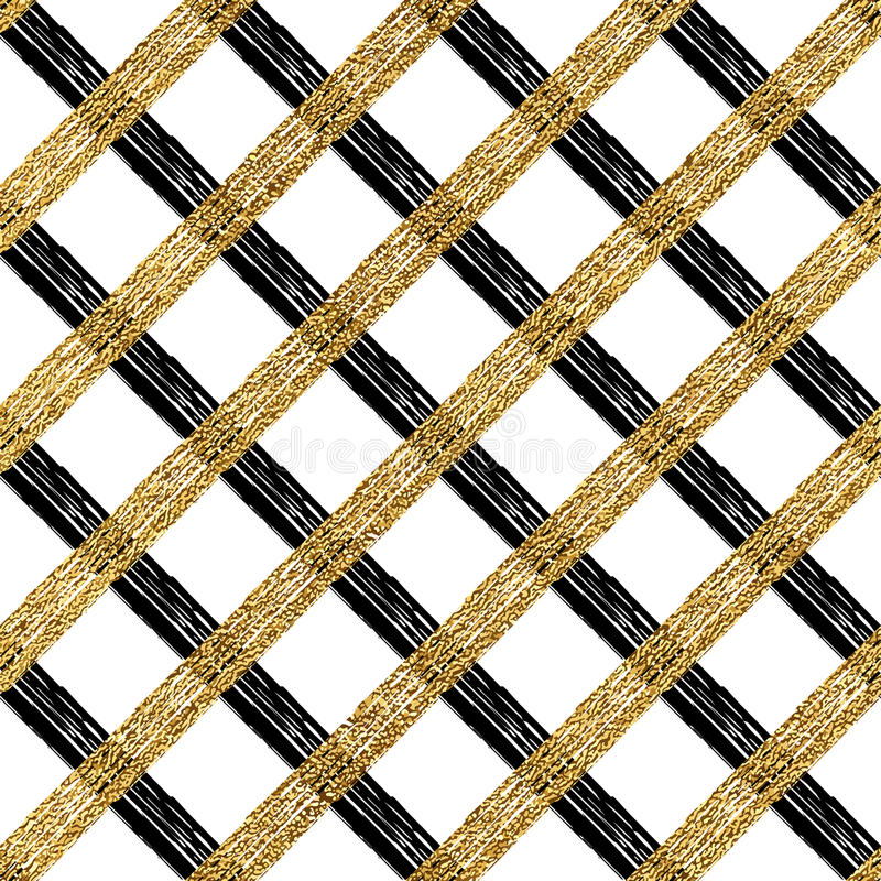 Abstraktes nahtloses Muster des Goldsilberkäfigs lizenzfreie abbildung