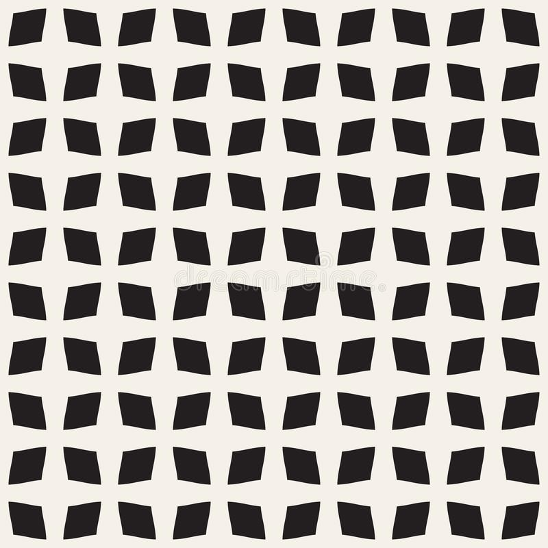 Abstraktes nahtloses Muster des Vierecks stock abbildung