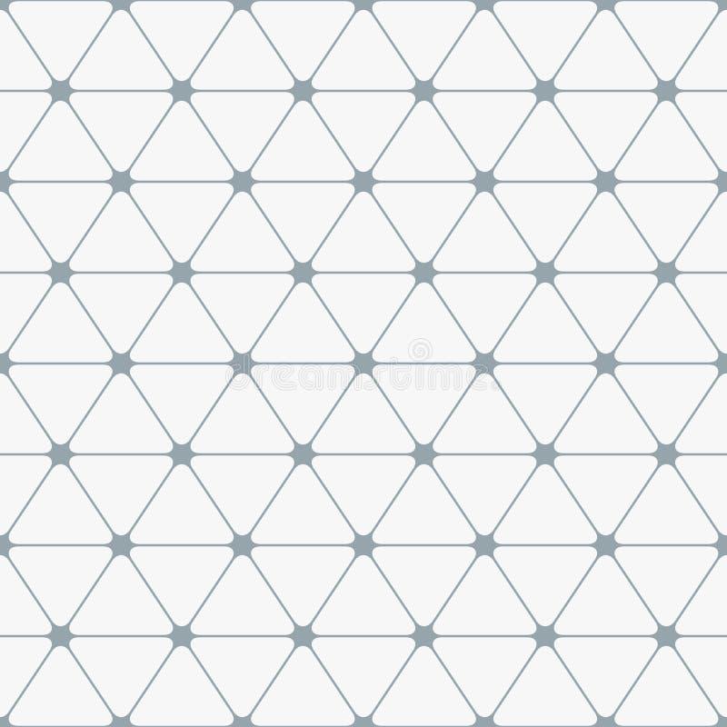 Abstraktes nahtloses Muster Dreiecke mit gerundeten Ecken stock abbildung
