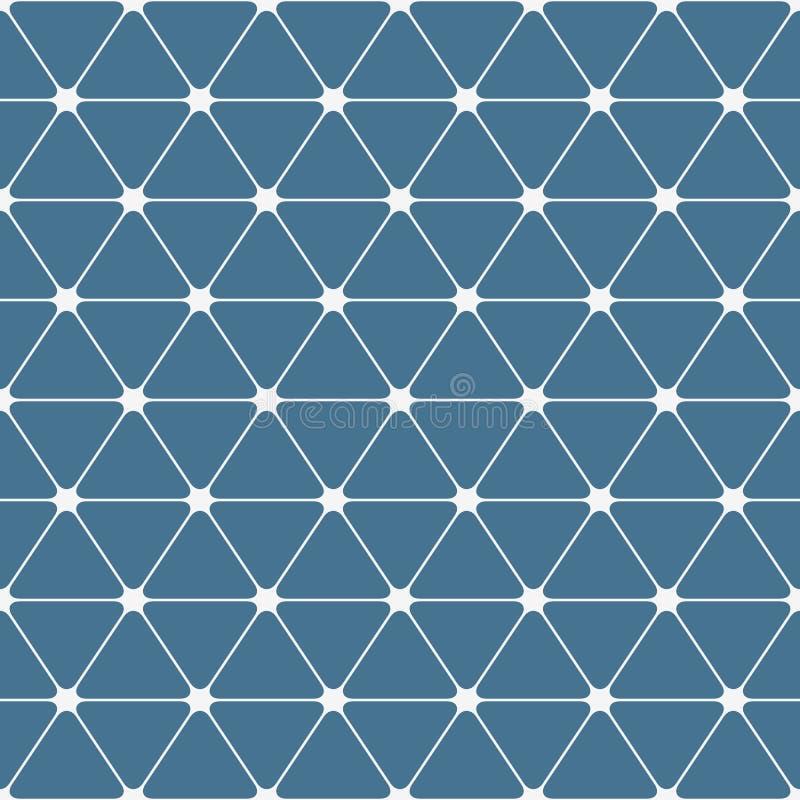 Abstraktes nahtloses Muster Dreiecke mit gerundeten Ecken vektor abbildung