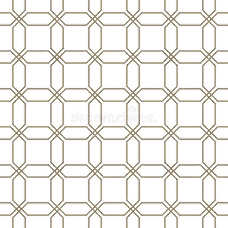 Abstraktes nahtloses Muster Druck des geometrischen Entwurfs Einfarbige Tapete ineinandergreifen Guilloche rasterfeld vektor abbildung