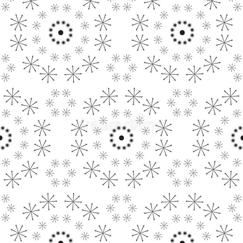Abstraktes nahtloses Muster einer Kreisform stock abbildung