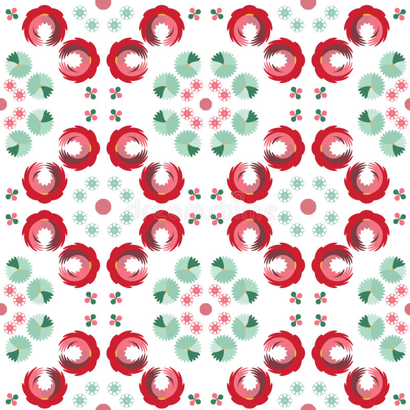 Abstraktes nahtloses Muster einer Kreisform lizenzfreie abbildung