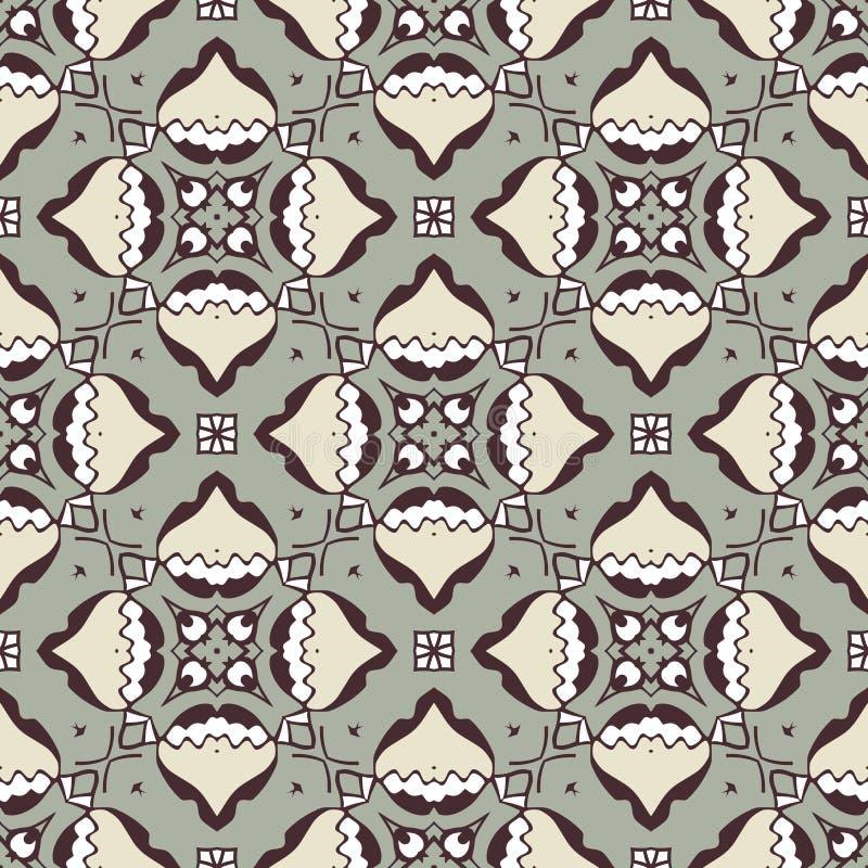 Abstraktes nahtloses Muster für Gewebe und Hintergrund lizenzfreie stockfotografie