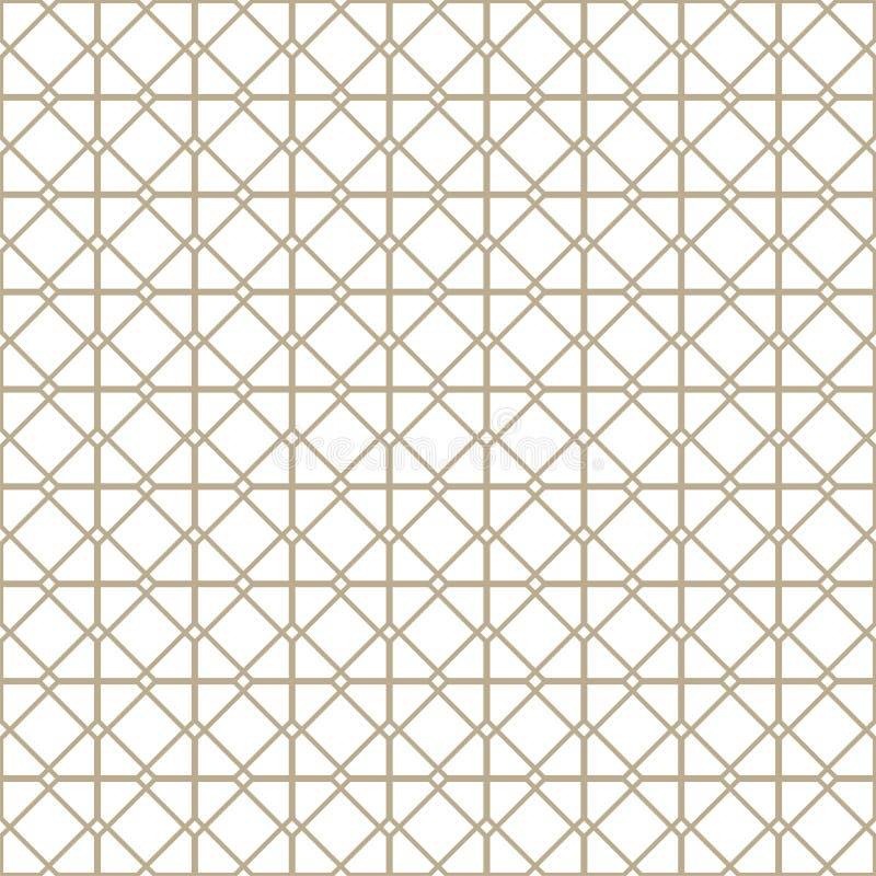 Abstraktes nahtloses Muster Geometrischer Modeentwurfsdruck Einfarbige Tapete ineinandergreifen Guilloche stock abbildung