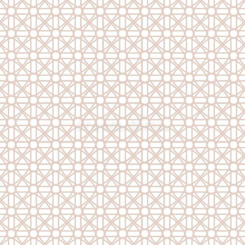Abstraktes nahtloses Muster Geometrischer Modeentwurfsdruck Einfarbige Tapete ineinandergreifen Guilloche lizenzfreie abbildung