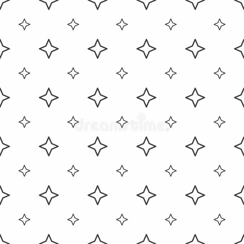 Abstraktes nahtloses Muster Graue Sterne, moderne stilvolle Beschaffenheiten vektor abbildung
