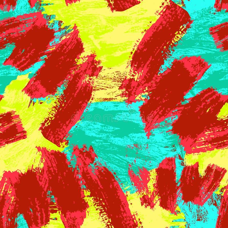 Abstraktes nahtloses Muster Grunge dekorativer Hintergrund Art Rough Stylized Texture Banner mit Raum f?r Text lizenzfreie abbildung