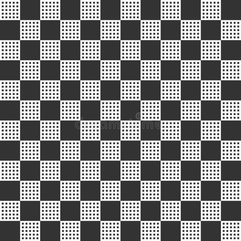Abstraktes nahtloses Muster mit den großen und kleinen Quadraten stock abbildung