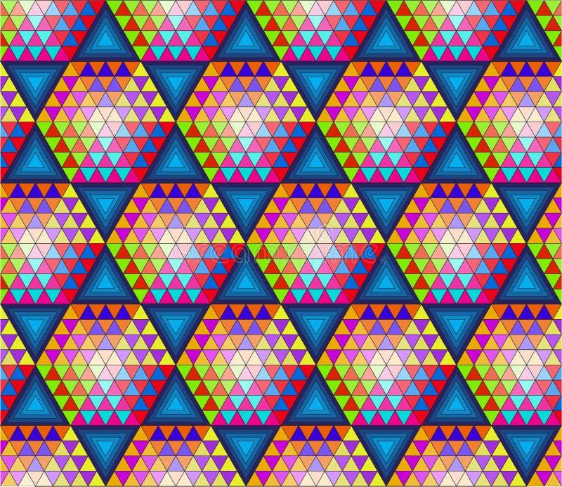 Abstraktes nahtloses Muster mit Dreiecken stockbilder