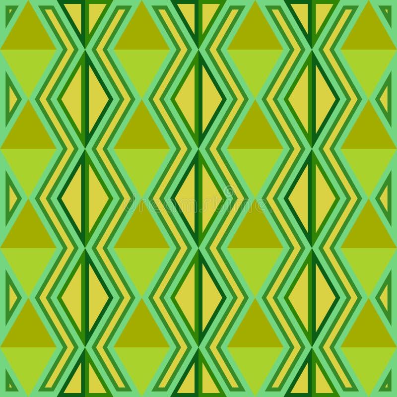 Abstraktes nahtloses Muster Nahtloses Muster mit Dreiecken Grün stock abbildung