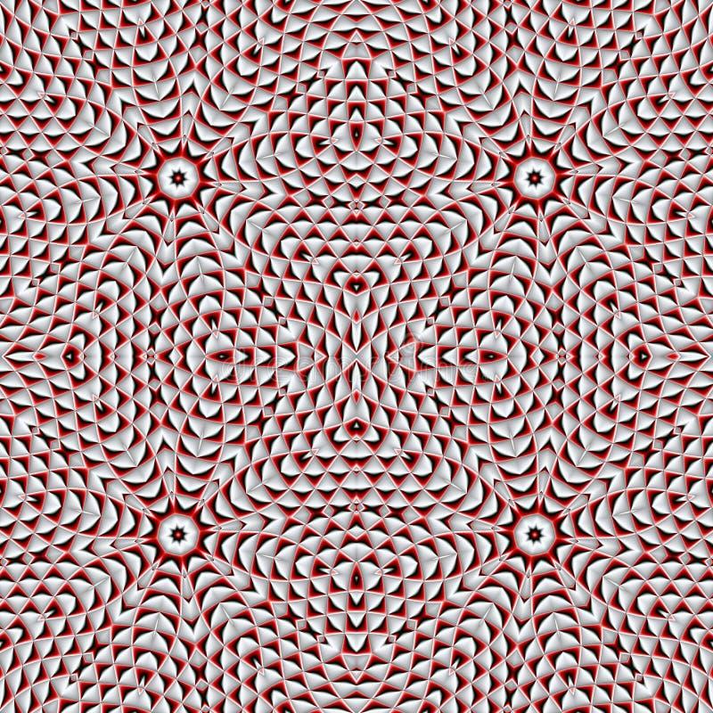 Abstraktes nahtloses Muster mit geometrischer Verzierung Sie können i verwenden vektor abbildung