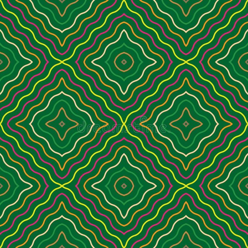 Abstraktes nahtloses Muster mit gewellten Linien stock abbildung