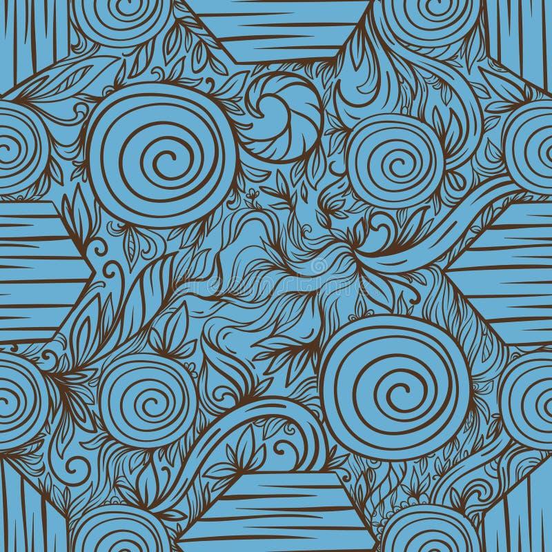 Abstraktes nahtloses Muster mit hölzerner Beschaffenheit stockbilder