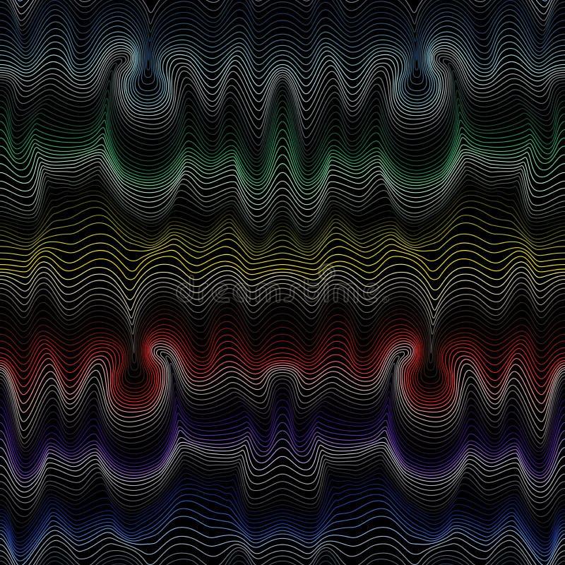 Abstraktes nahtloses Muster mit Spektrumfarben vektor abbildung