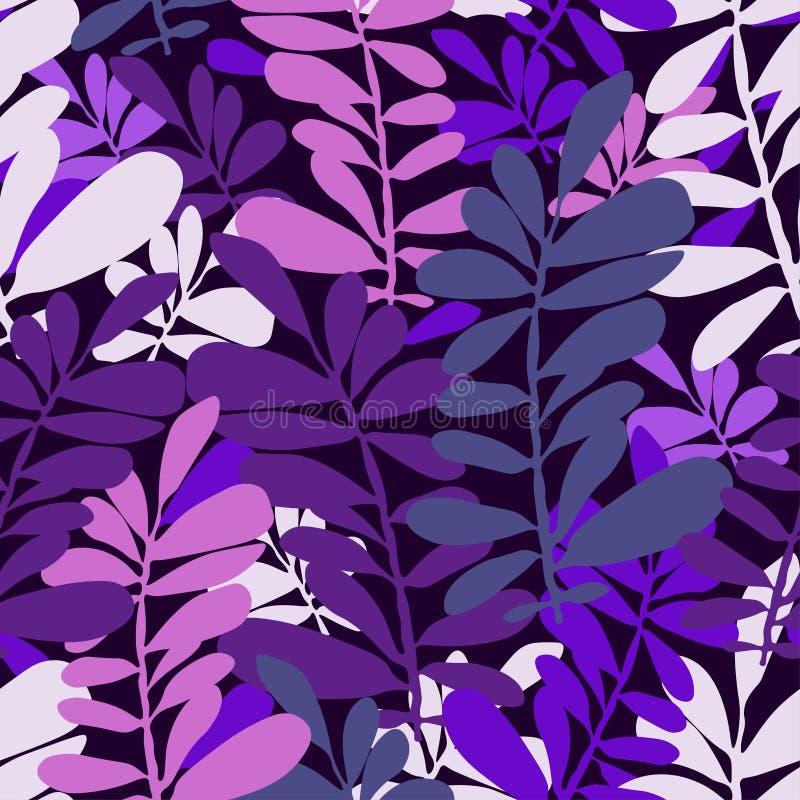 Abstraktes nahtloses Muster mit tropischen Bl?ttern Beschaffenheit des Handabgehobenen betrages Rand der Farbband-, Lorbeer- und  lizenzfreie abbildung