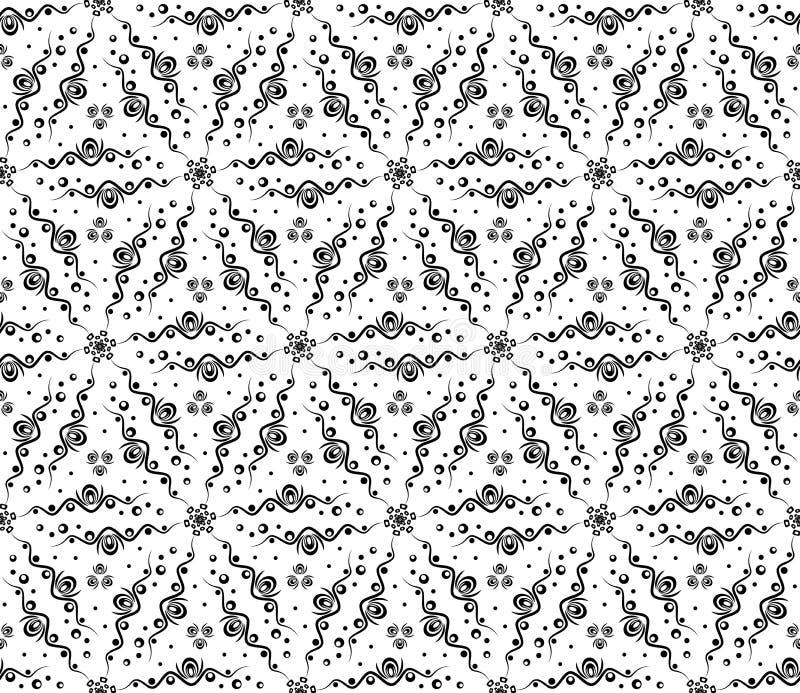 Abstraktes nahtloses Muster mit Wellen und Kreisen vektor abbildung