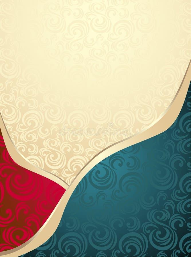 Abstraktes nahtloses Muster oder Hintergrund vektor abbildung