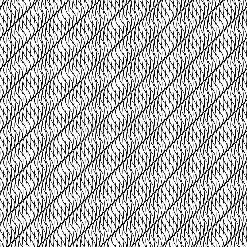 Abstraktes nahtloses Muster in Schwarzweiss stock abbildung