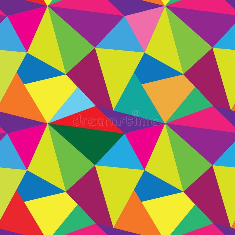 Abstraktes nahtloses Muster von geometrischen Formen Geometrisches backgro lizenzfreie abbildung