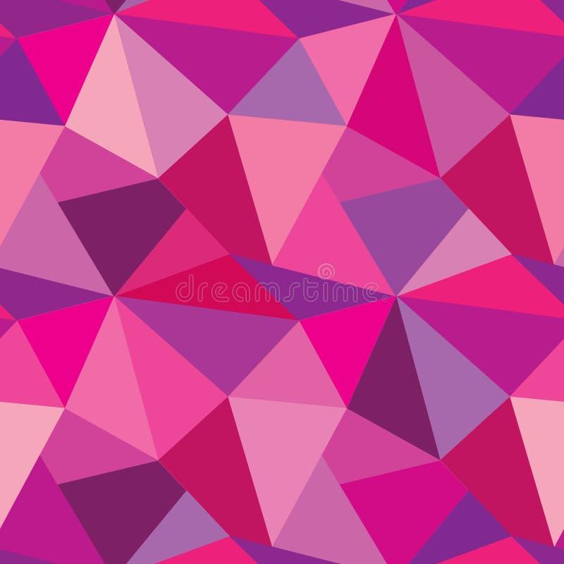 Abstraktes nahtloses Muster von geometrischen Formen Geometrisches backgro stock abbildung