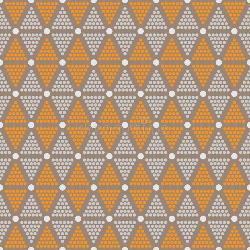 Abstraktes nahtloses Muster von Punkten und von Kreisen lizenzfreie abbildung