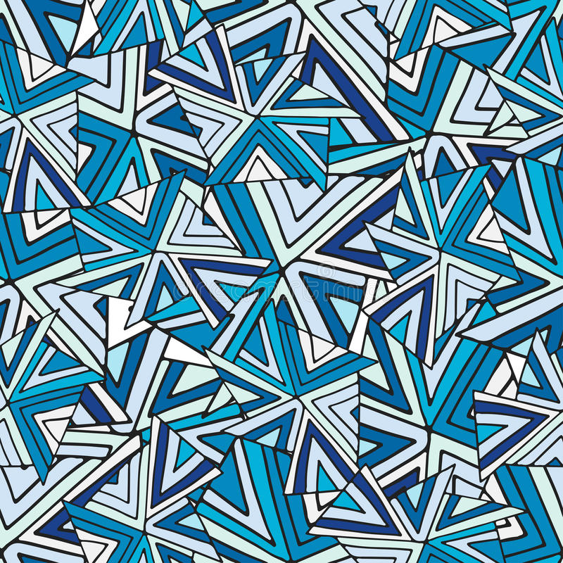 Abstraktes nahtloses vektormuster Kalter geometrischer Hintergrund Modebeschaffenheit für Gewebe oder Verpackungsdesign vektor abbildung