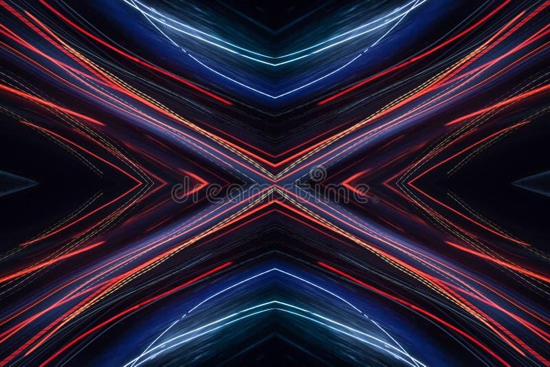 Abstraktes Neonmuster lizenzfreies stockbild