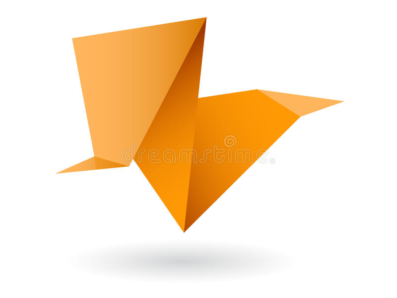 Abstraktes origami lizenzfreie abbildung