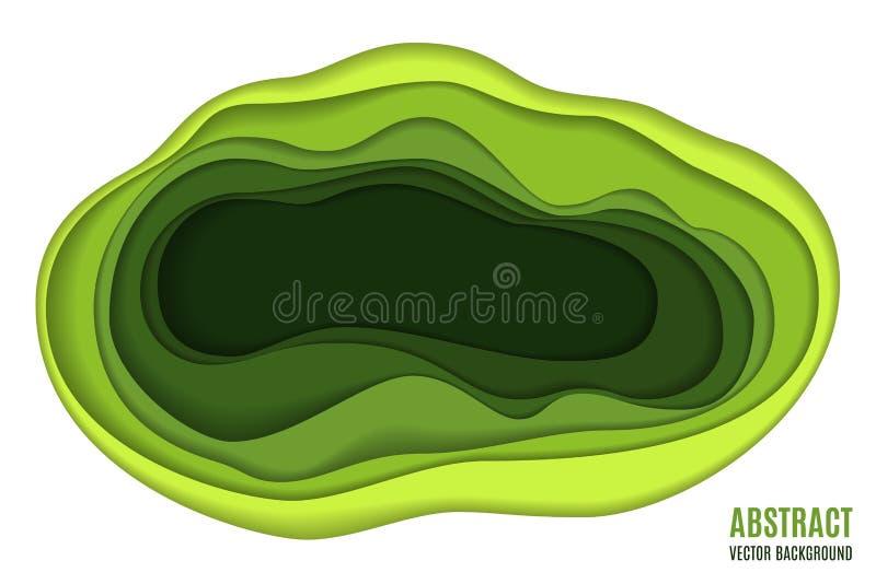 Download Abstraktes Papier Schnitzen Hintergrund Vektor Abbildung - Illustration von kurve, schnittstelle: 90234817