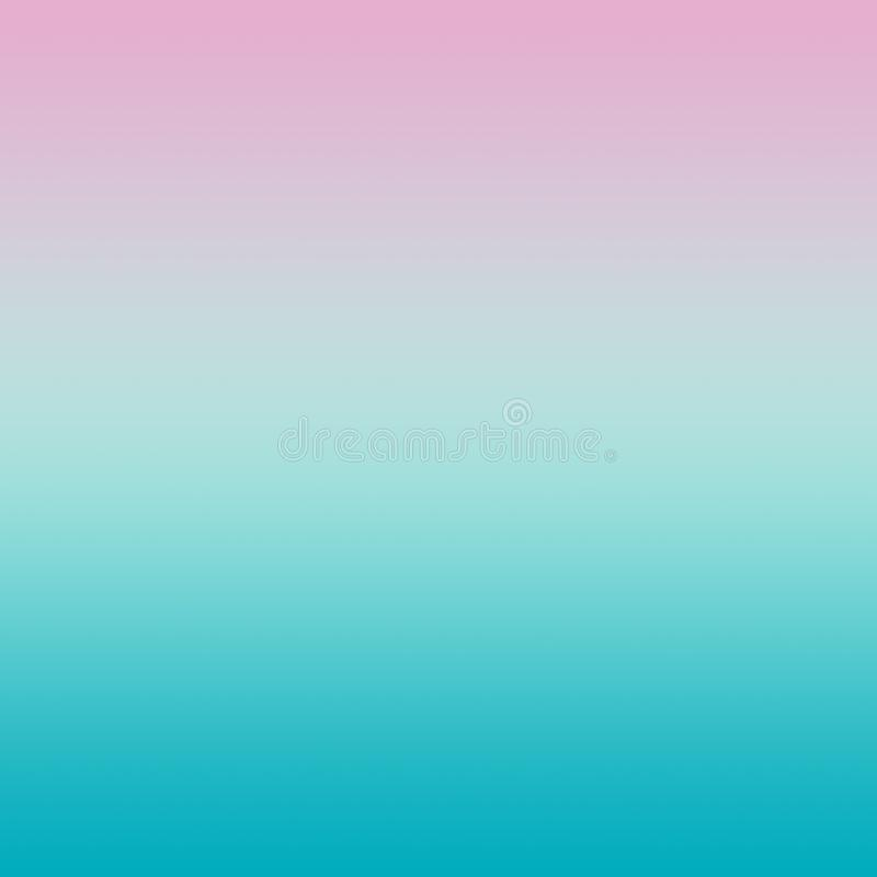 Abstraktes Pastellrosa Aqua Blue Gradient Background lizenzfreie abbildung