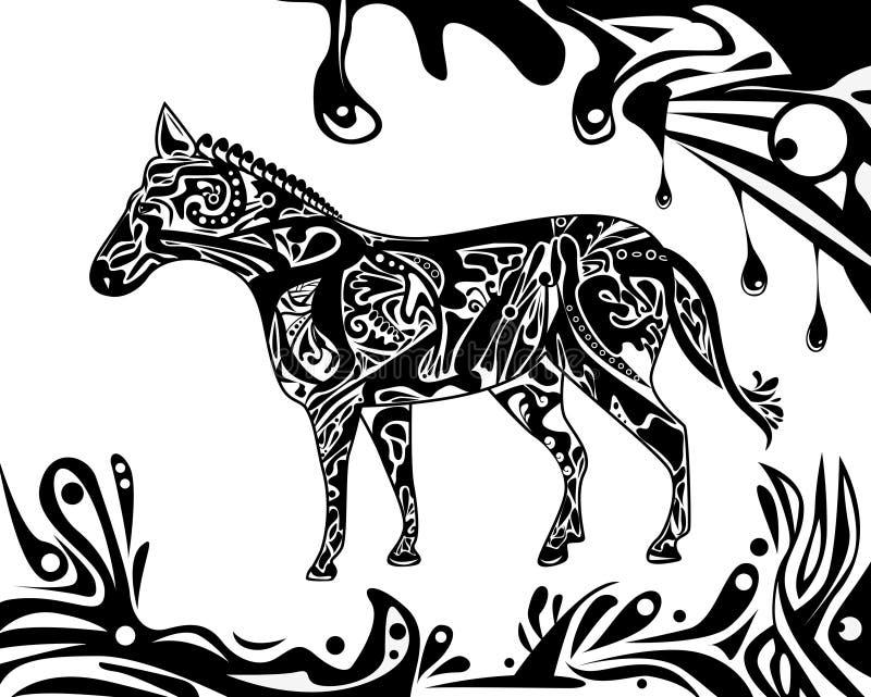 Abstraktes Pferd stock abbildung