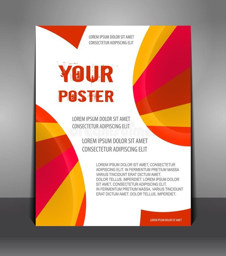 Abstraktes Plakat mit Strahlen lizenzfreie abbildung