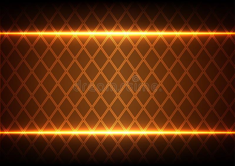 Abstraktes Quadrat und Licht auf braunem Hintergrund vektor abbildung