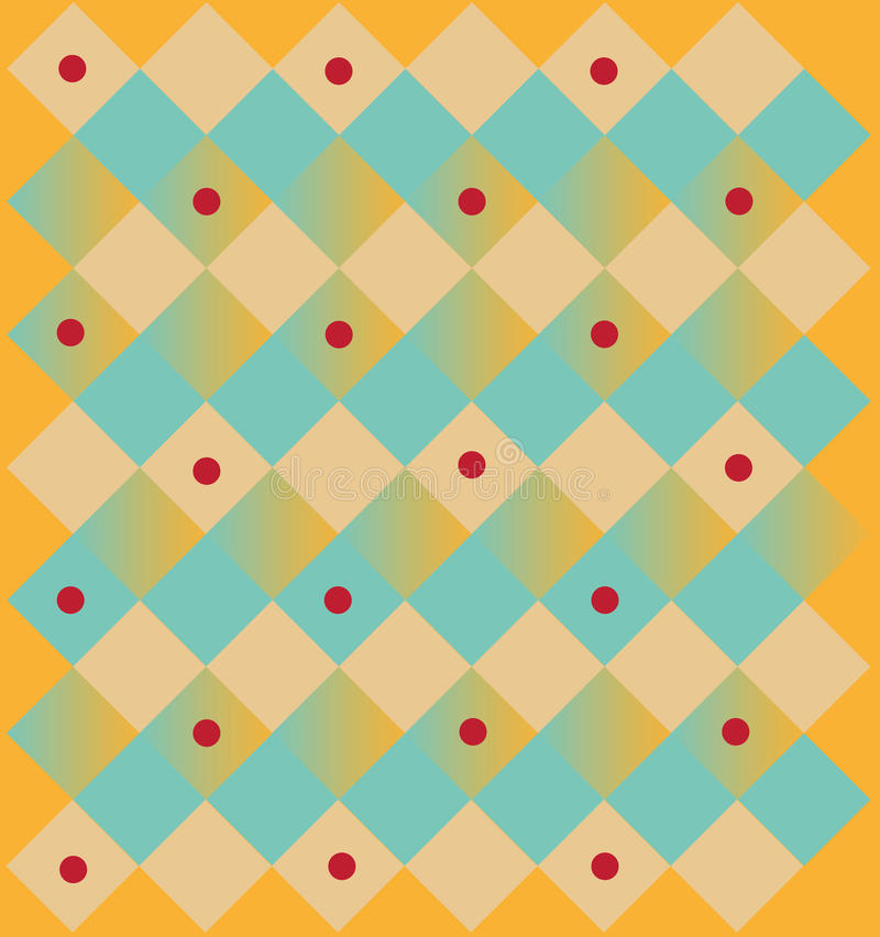 Abstraktes quadratisches Muster lizenzfreies stockfoto