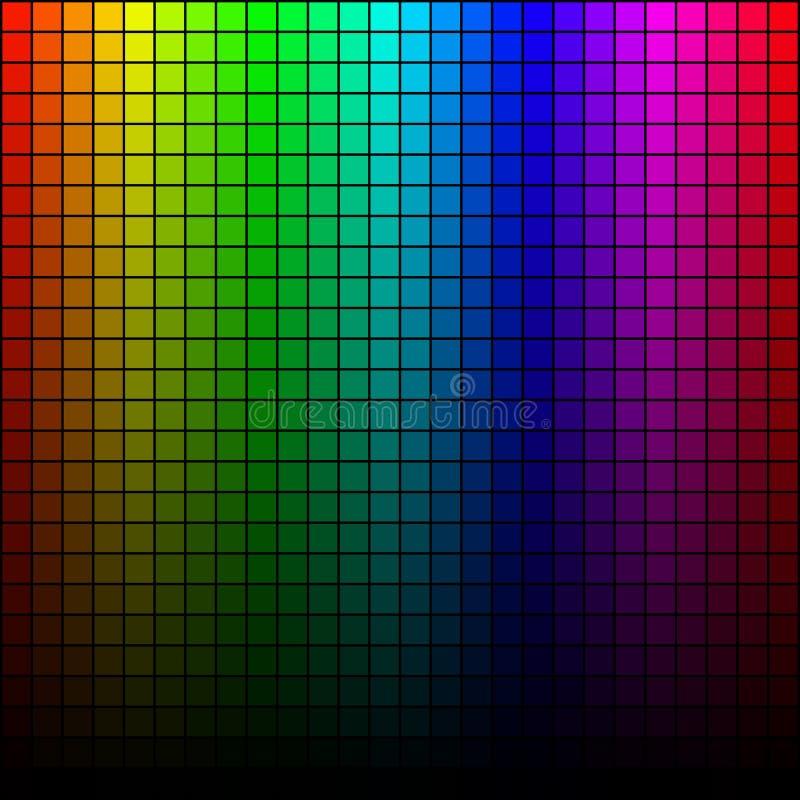 Abstraktes quadratisches Pixelmosaik, Spektrumton stock abbildung