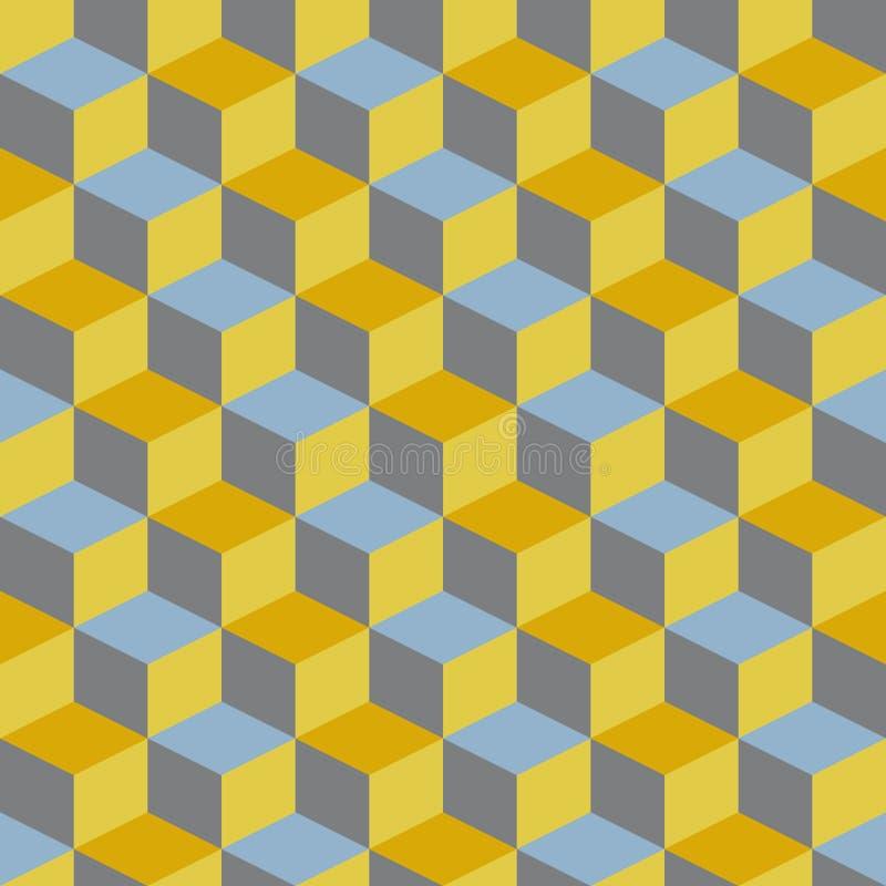 Abstraktes Retro- Art- Decogeometrisches Muster stock abbildung