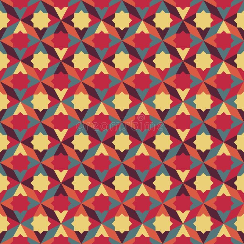 Abstraktes Retro- geometrisches Muster lizenzfreie abbildung
