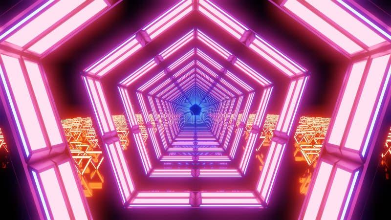 Abstraktes Rosa und orange Lichter und Formen lizenzfreies stockbild