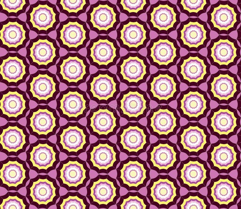Abstraktes rosa und purpurrotes geometrisches nahtloses Textur lizenzfreie abbildung