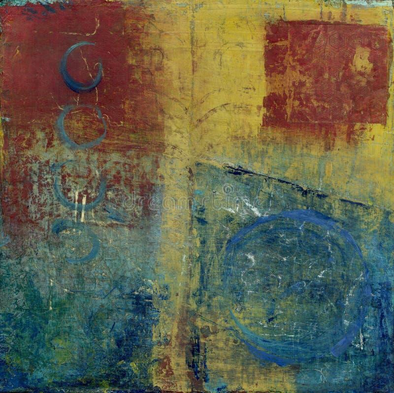 Abstraktes rotes Blaues und gelb vektor abbildung