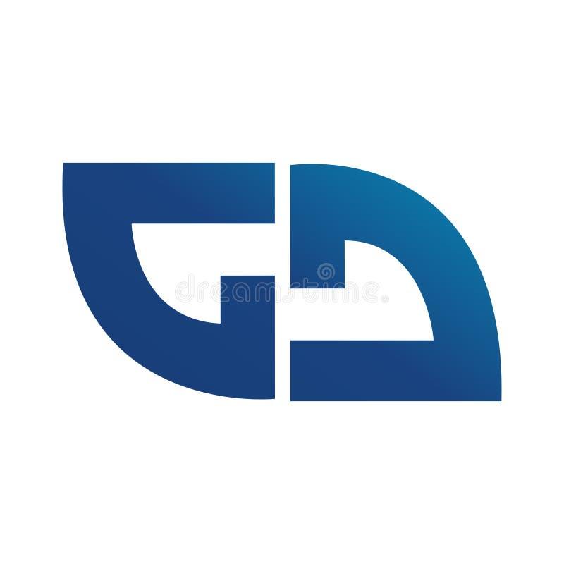 Abstraktes rundes Logo, das Aktualisierung, Austausch und distributio symbolisiert vektor abbildung