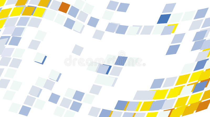 Abstraktes rundes Pixel zeigt Mosaikhintergrund stock abbildung