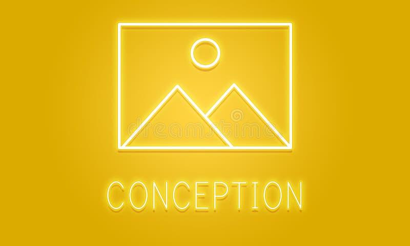 Abstraktes Schaffungs-Inspirations-Modell Graphic Concept stockfotografie