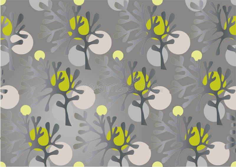 Abstraktes Schattenbild der Bäume. Background.Wallpaper vektor abbildung