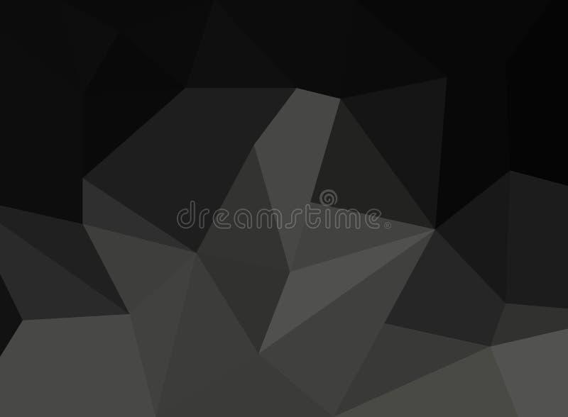 Abstraktes Schwarzes facettierter Papierhintergrund stock abbildung