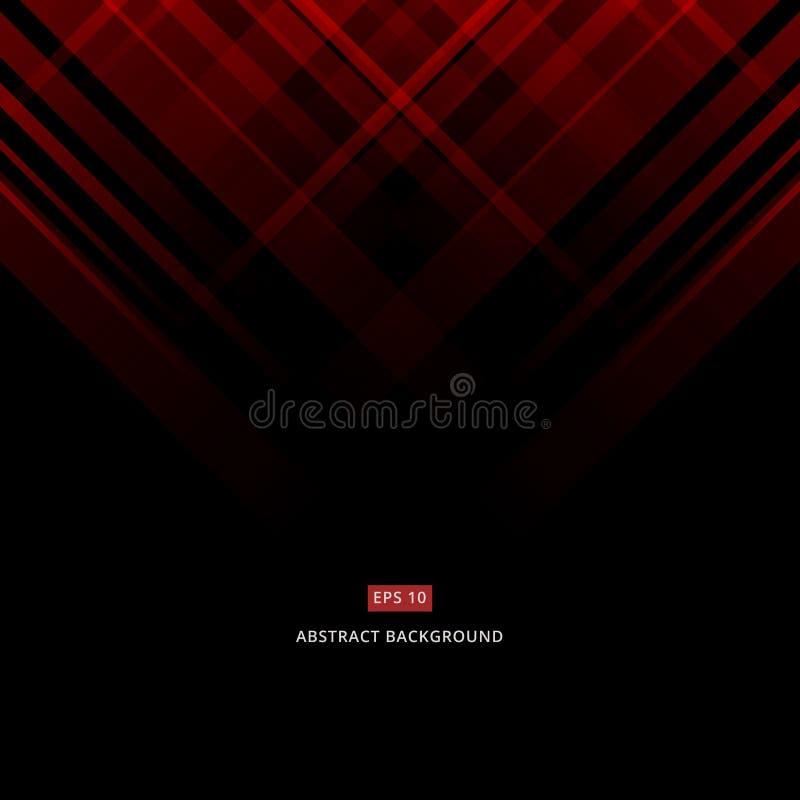 Abstraktes schwarzes und rotes Technologiedesign Vektor Unternehmens-geome vektor abbildung