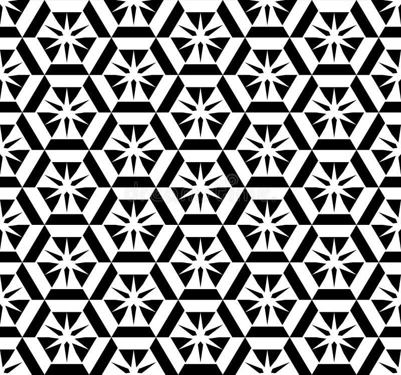 Abstraktes Schwarzweiss-Muster stock abbildung