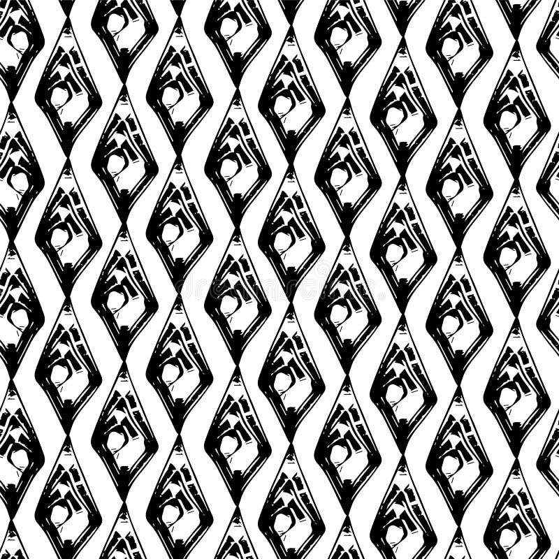 Abstraktes Schwarzweiss-Schmutz seamles Muster stock abbildung